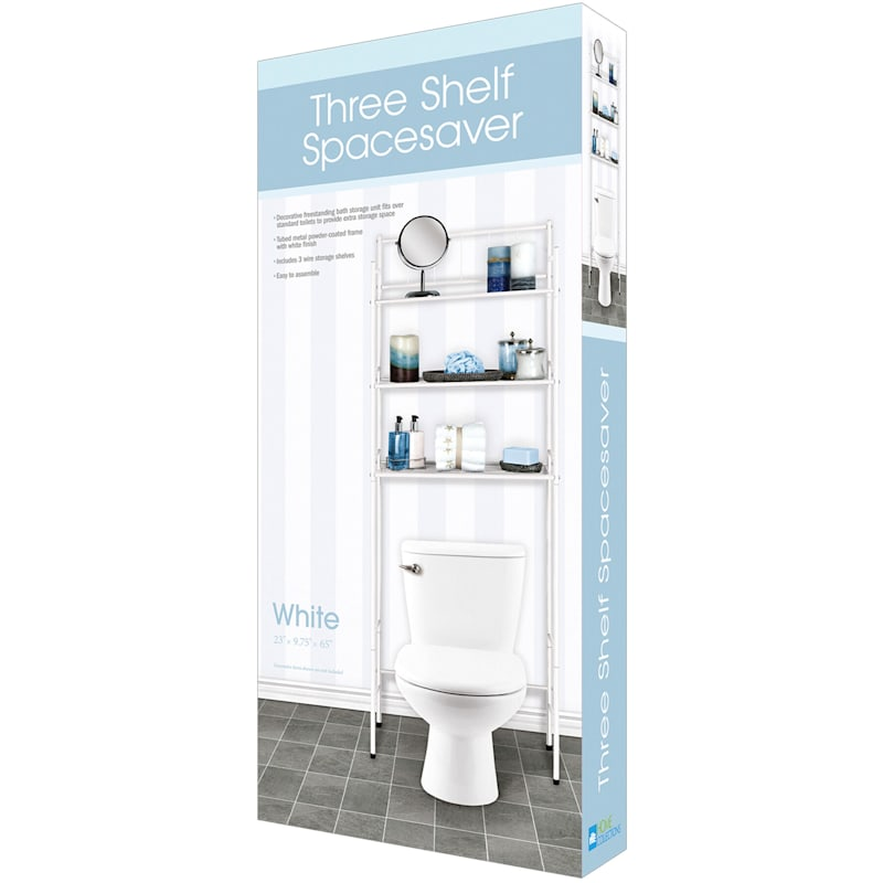 3-Tier Space Saver Lines White