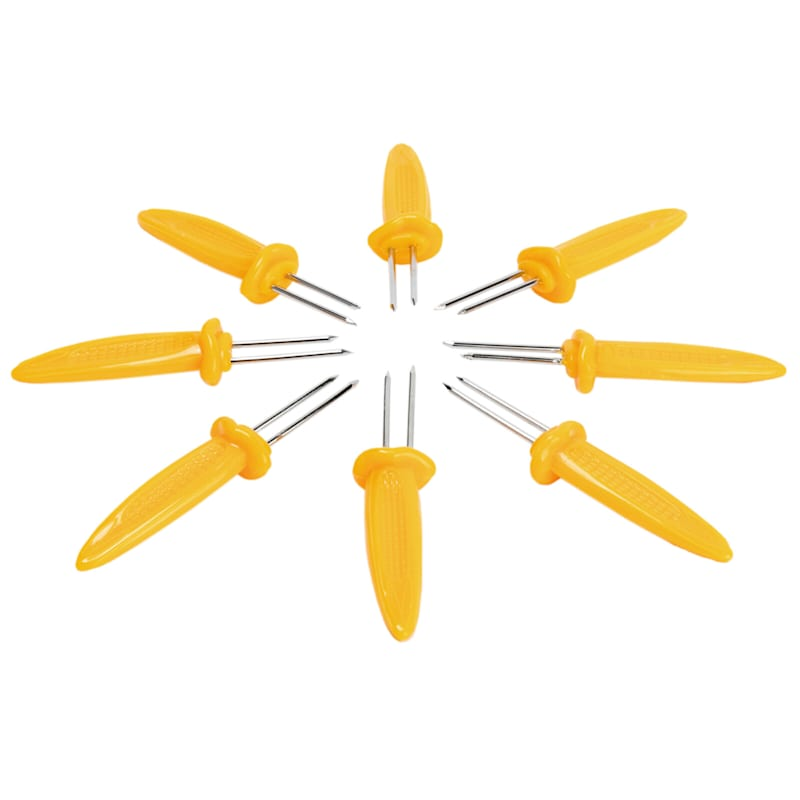 8 Plastic Corn Skewers