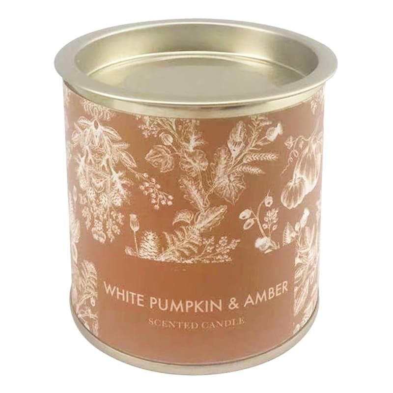 White Pumpkin & Amber Tin Candle, 6.5oz
