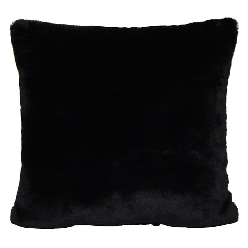 Bristol Black Faux Fur Oversized Pillow 24X24