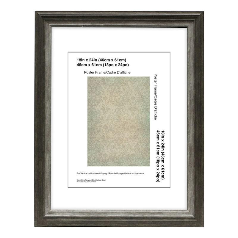 18X24 Miranda Black/Silver Wall Frame