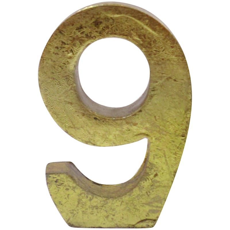 4IN 9 NUMBER GOLD