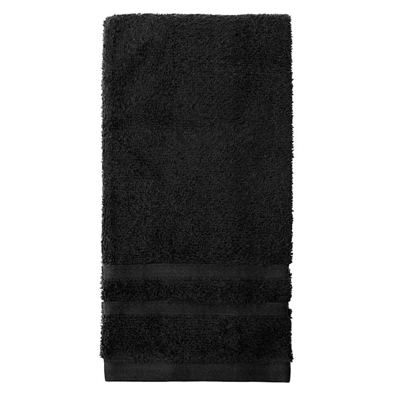 Essential Black Hand Towel 16X26
