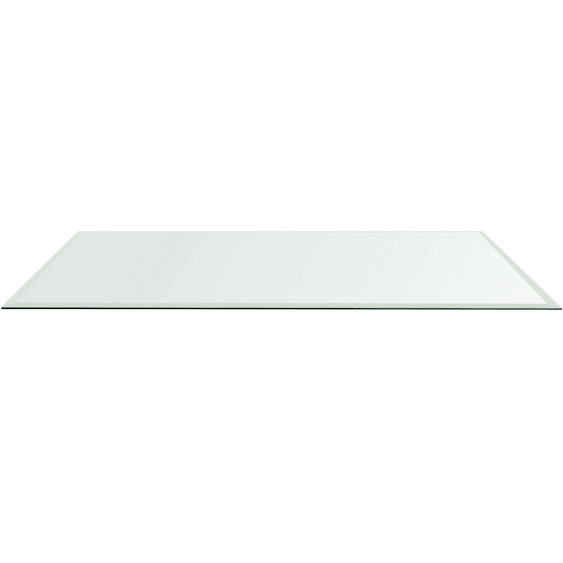 Beveled Circa Glass Table Top- 70 x 35-in