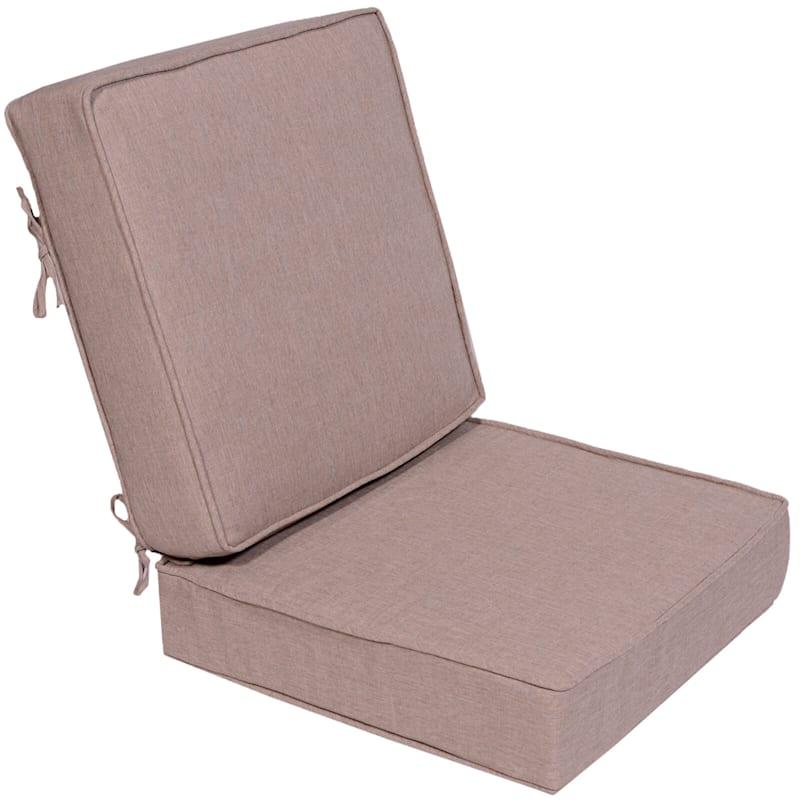 Sonora Taupe Outdoor Premium Deep Seat 2-Piece Cushion