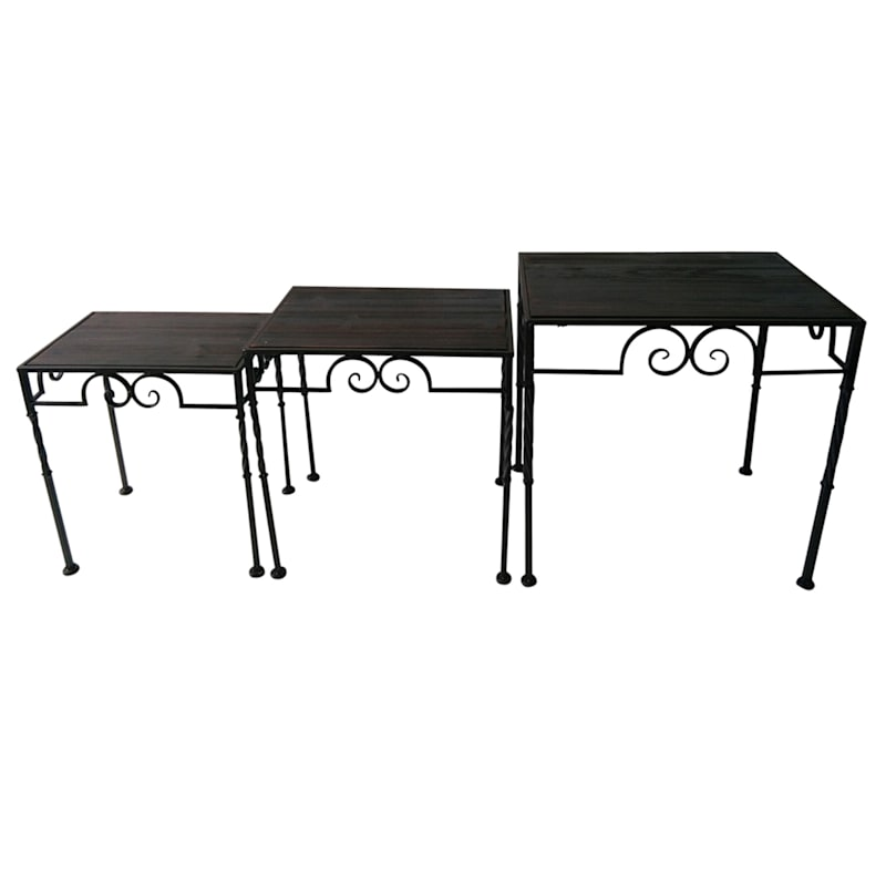 Rectangle Wood Top Table With Twist Leg Brown, Small