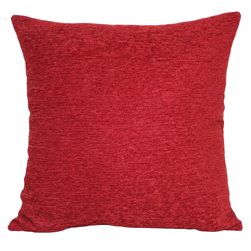 Crown Red Chenille Pillow Rio 17X17