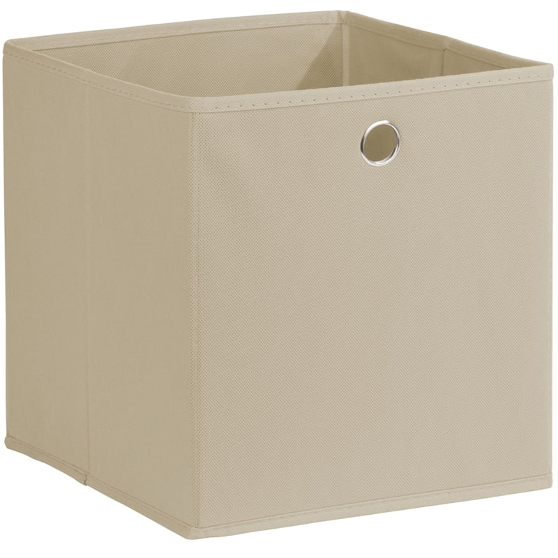 Kid Fabric Cube Tote Taupe