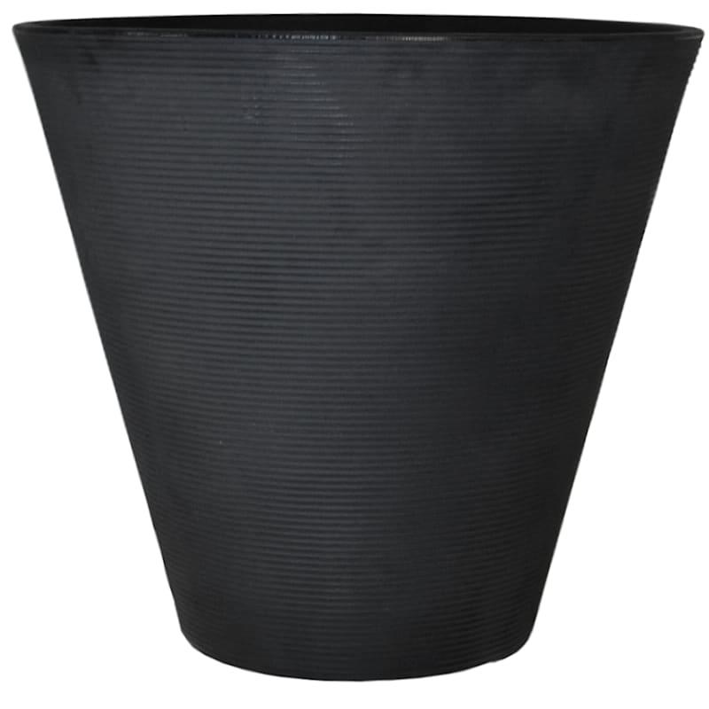 Ribbed Cone 24in. Decorative Planter Slate