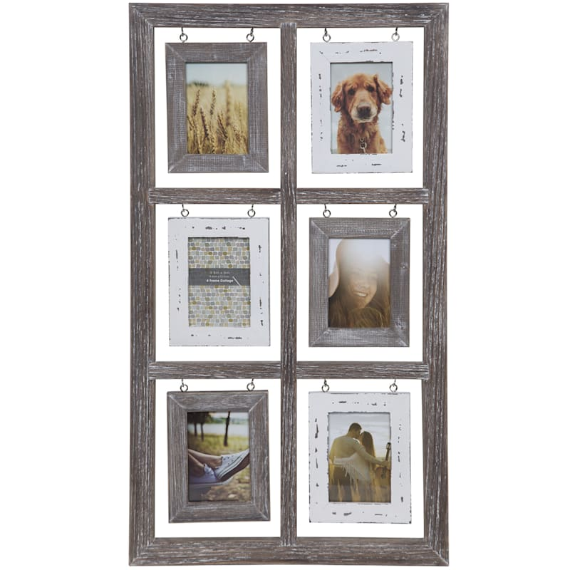 6-Opening 4X6 Windowpane Photo Collage Frame