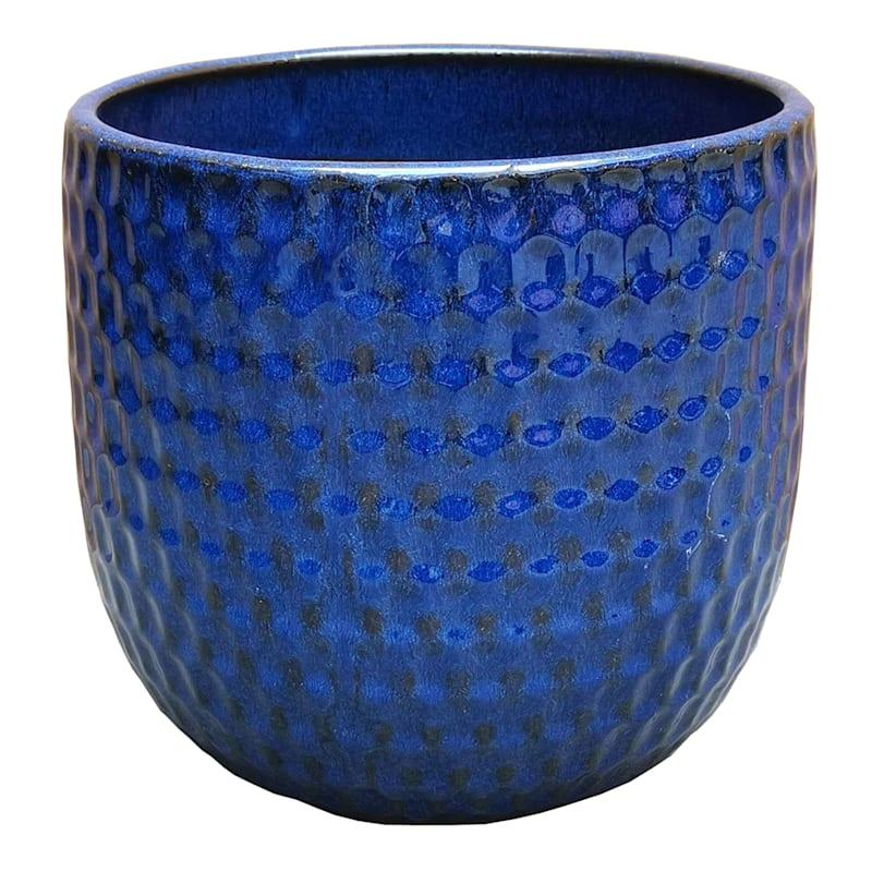 Corey 15in. Blue Outdoor Ceramic Planter