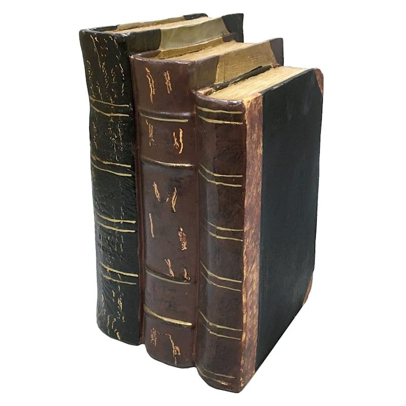 8X6 Resin Black Stacked Books