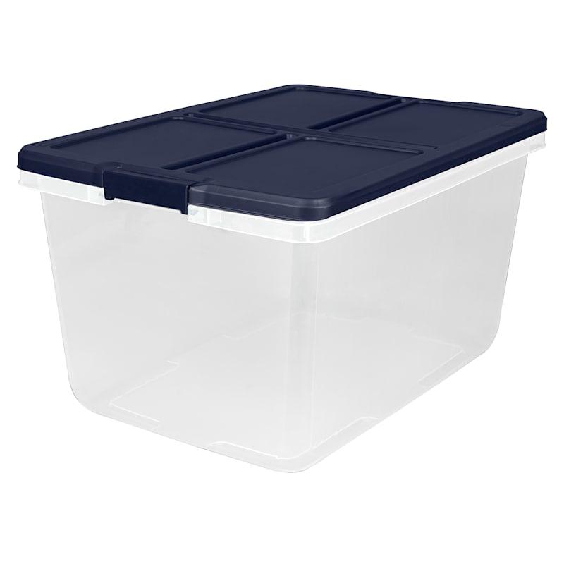 Hefty 66qt Storage Bin Clear/White