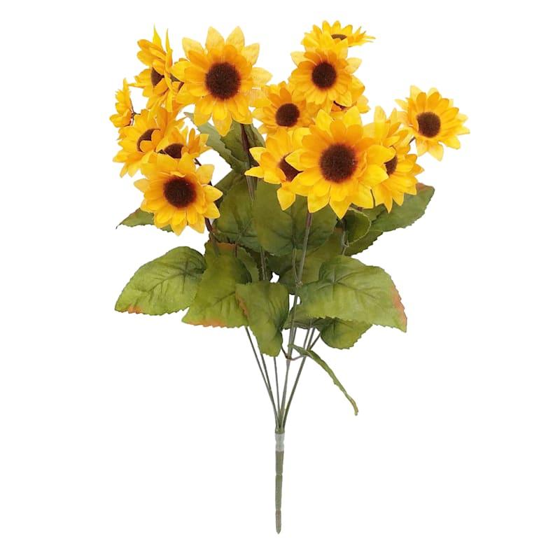 """Mini Yellow Sunflower Bush, 18"""""""