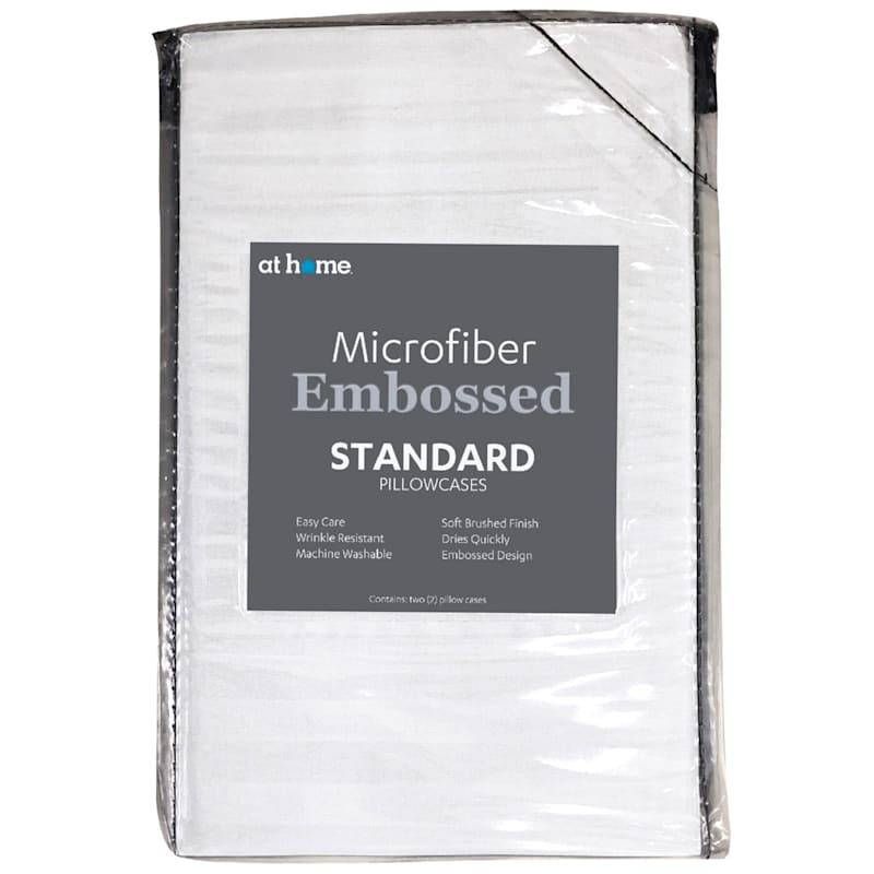 White Microfiber 2-Piece Pillow Case Standard 20X26