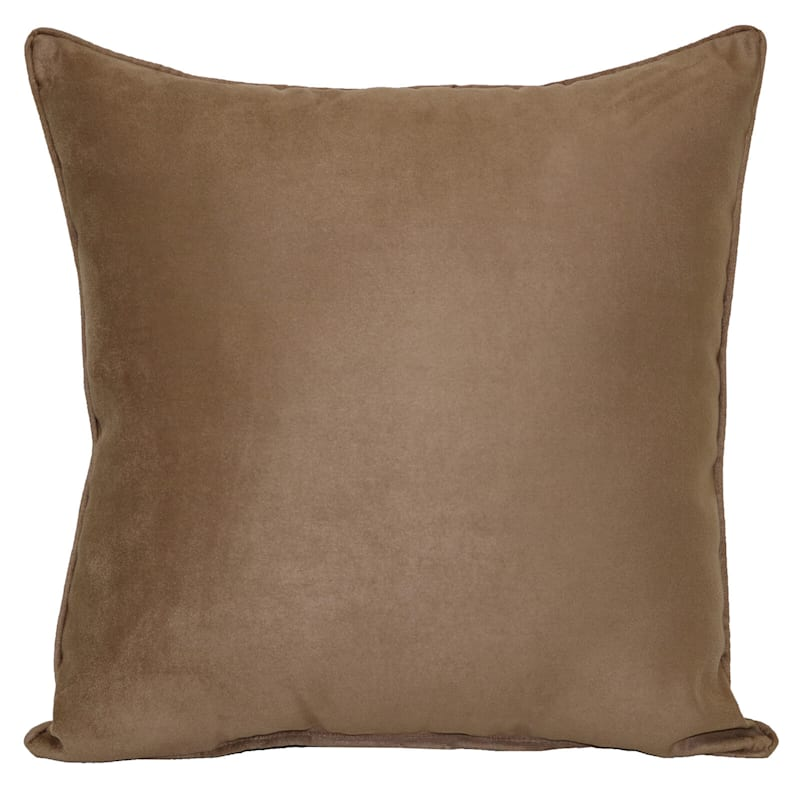 Bark Heavy Faux Suede Oversized Pillow 24X24