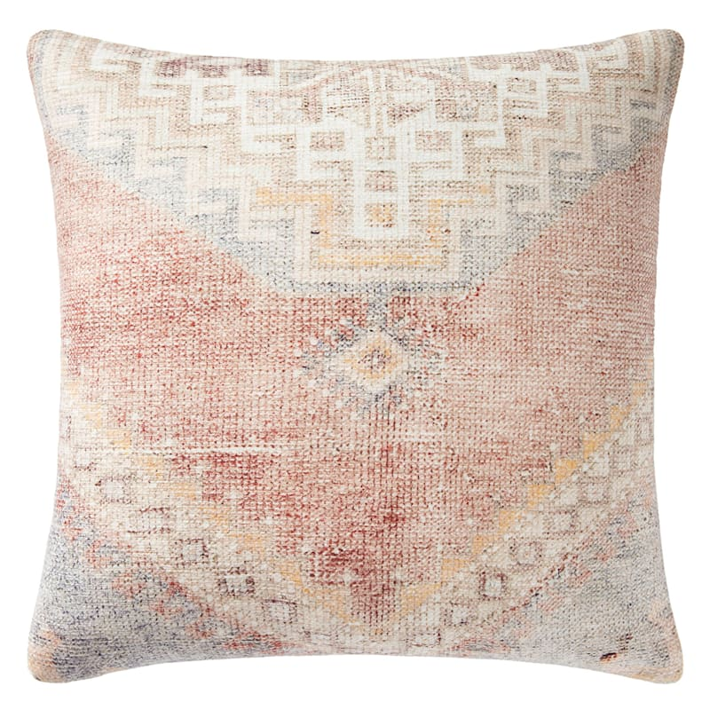 Seth 18in. Rust/Blue Throw Pillow