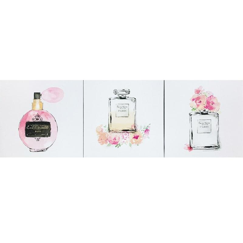 3-Piece 8X8 Parfum Trio Canvas Art Set