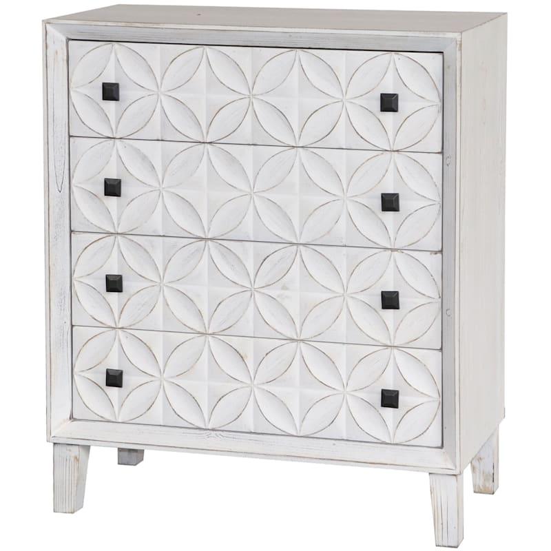 Laci White 4 Drawer Cabinet