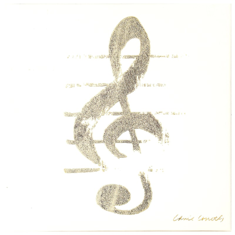 9X11 Musical Note Art Canvas
