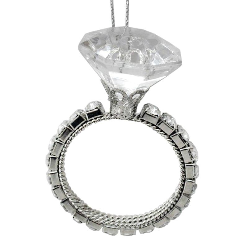2in. Clear Acrylic Rhinestone Ring Ornament