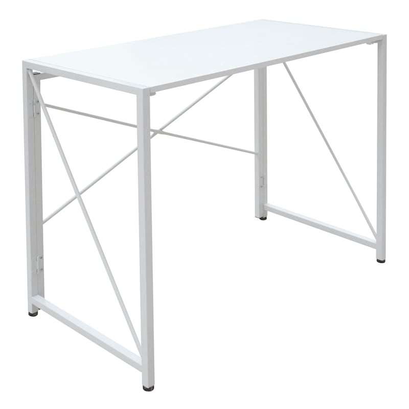 "Vienna White Folding Desk, 35"""