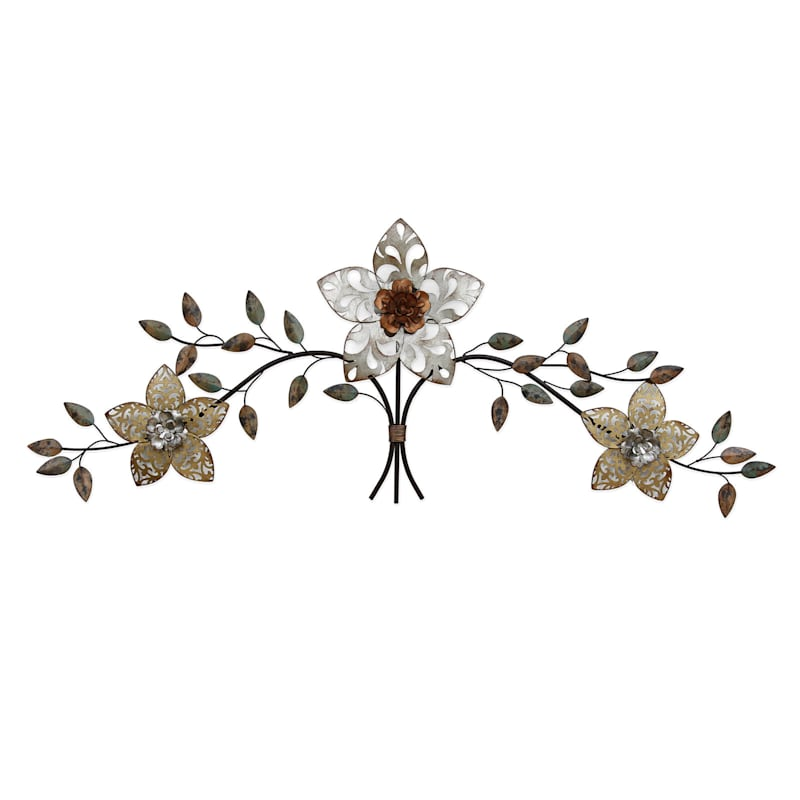 44X16 Over The Door Floral Bouquet Wall Decor