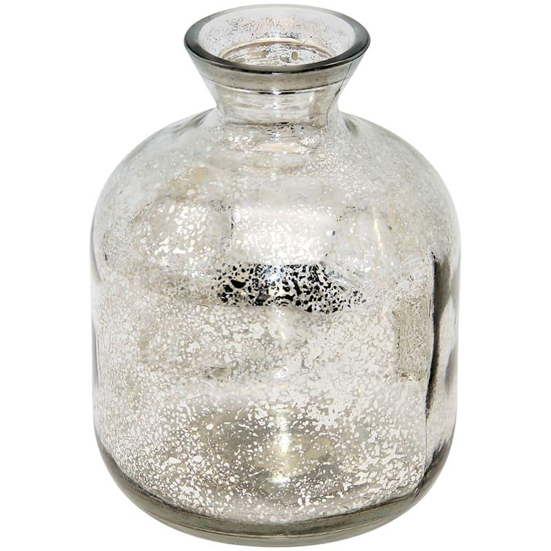 4X6 Silver Glass Vase