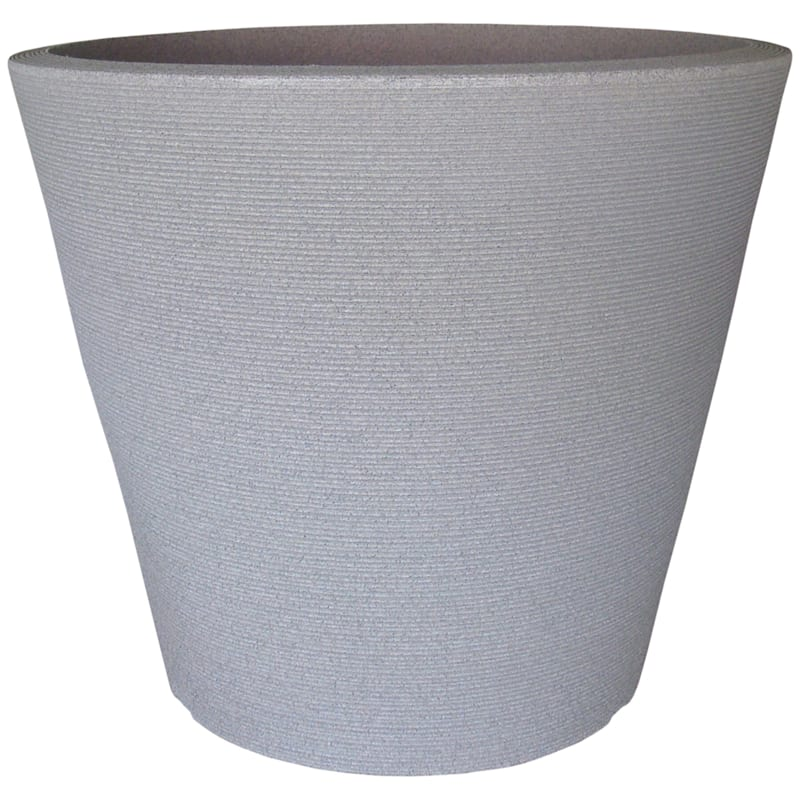 26.5X30.7 All Weather Proof Polyresin Linea Low/Planter Stone