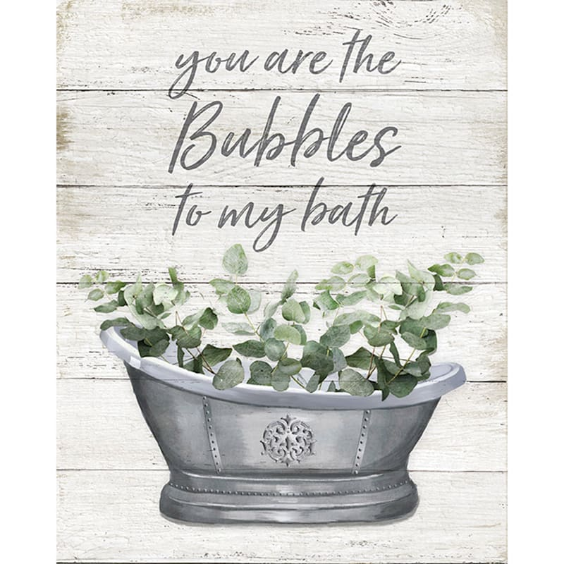 16X20 Bubbles To My Tub Canvas Art