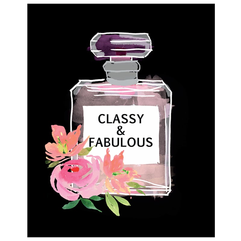 16X20 Classy And Fabulous Perfume Bottle Canvas Art