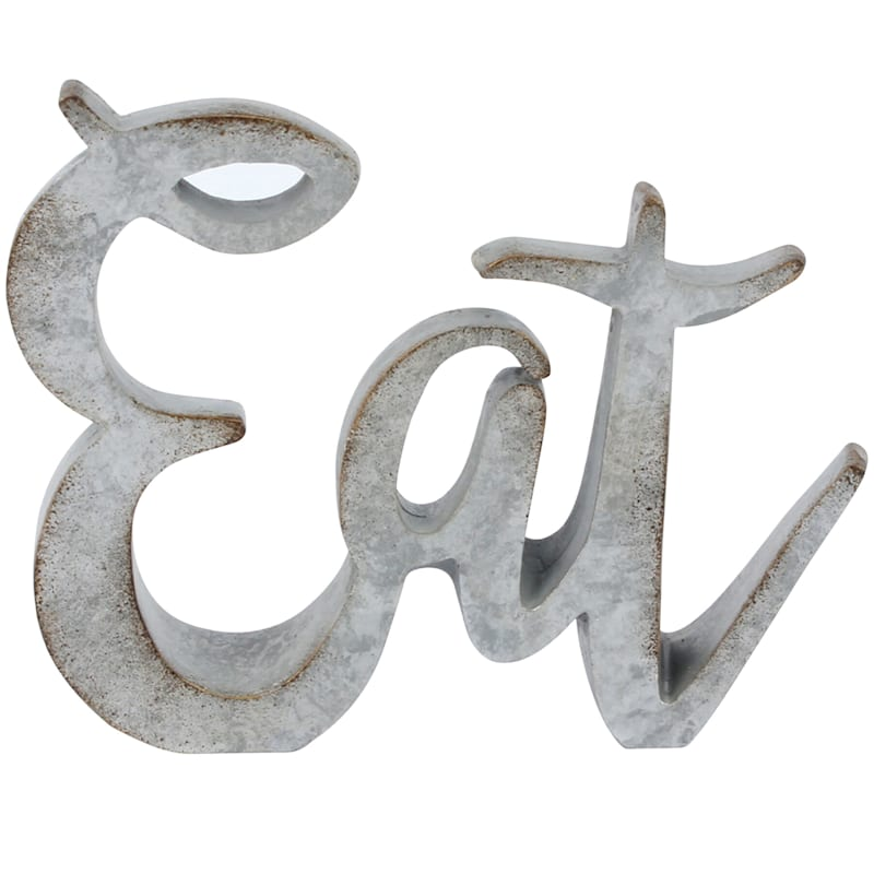 5in. Resin Grey Eat Sign