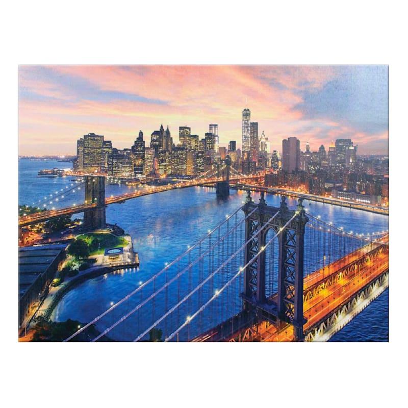 18X24 New York City Brooklyn Bridge Canvas Wall Art