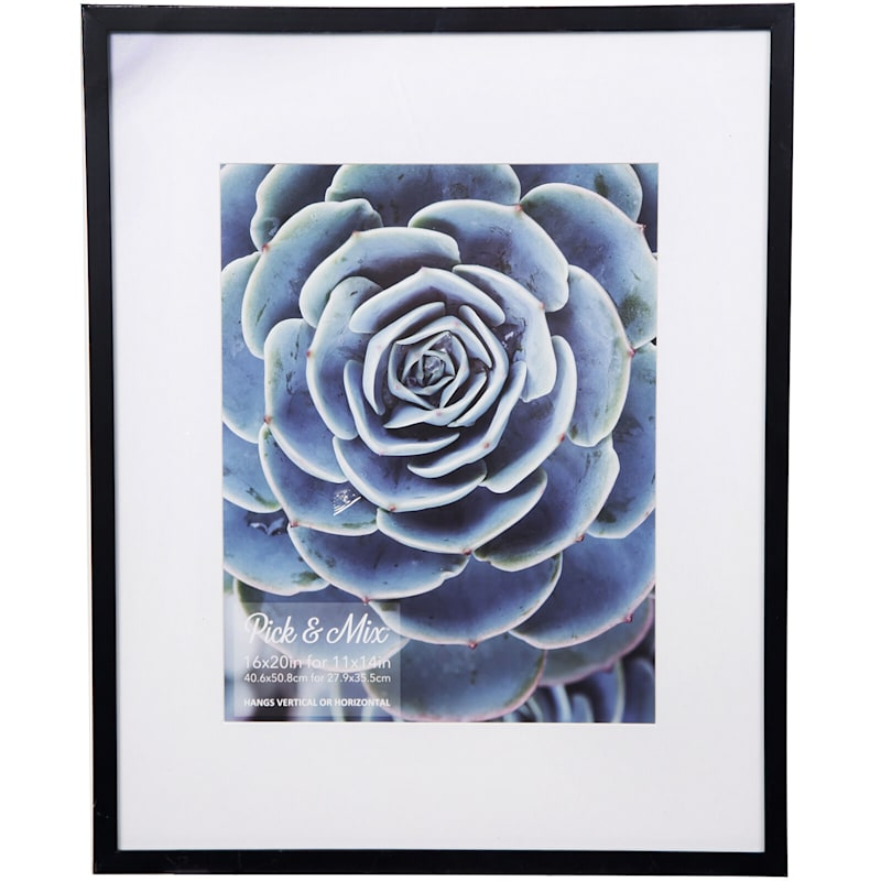 Pick And Mix 16X20 Matted To 11X14 Black White Mat Linear Photo Frame