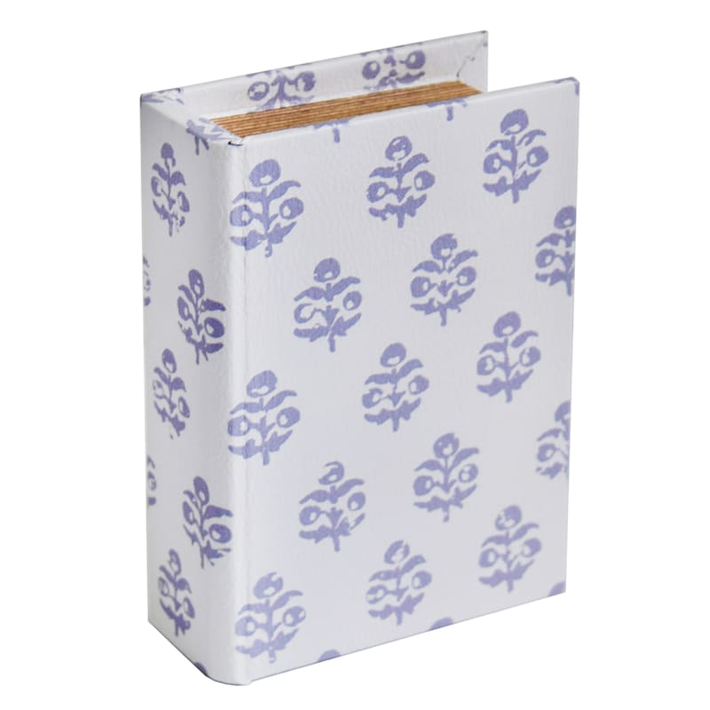 6 INCH WOOD BOOK BOX DECOR