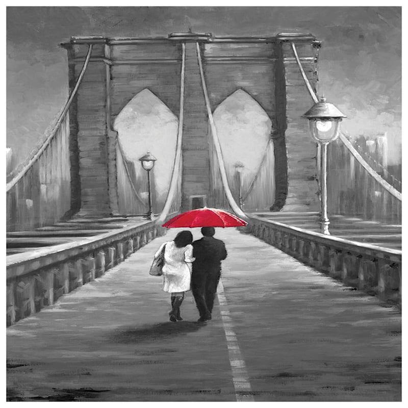 24X36 Ny Love Bridge Canvas