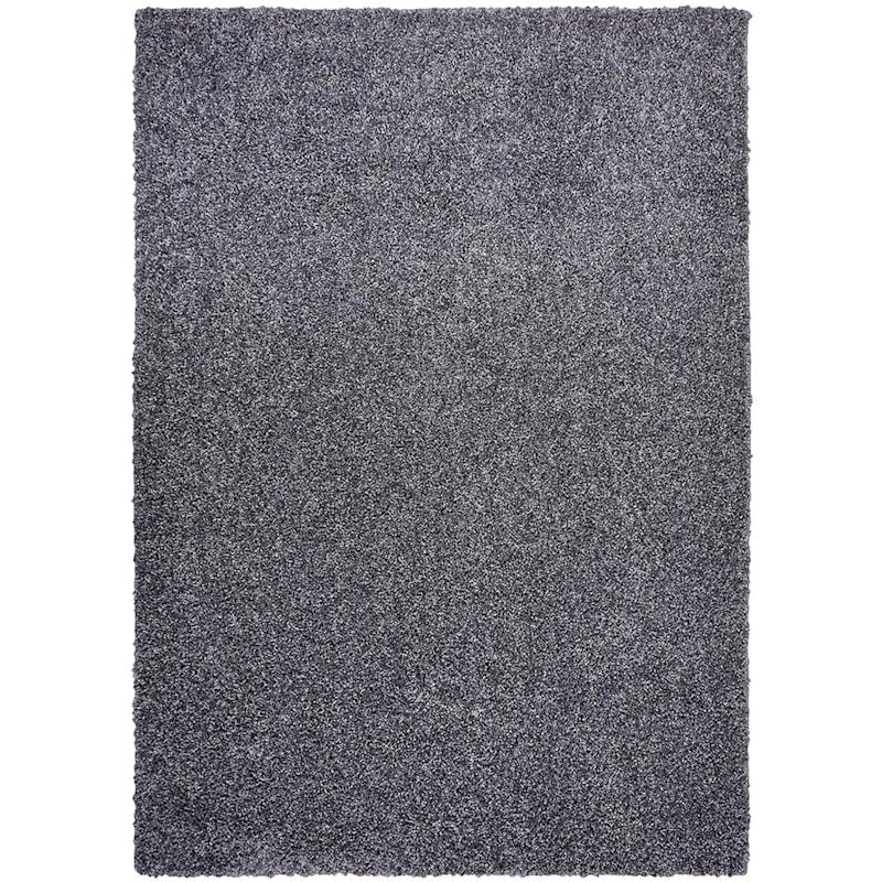 (C107) Bella Soft Tufted Shag Dark Grey Area Rug, 7x10