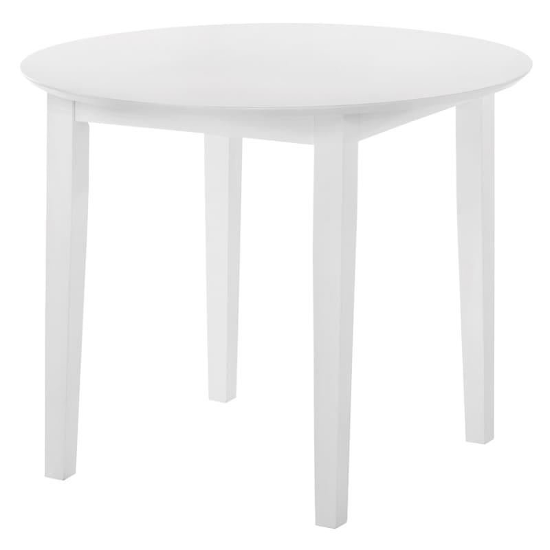 "Sophia White Round Dining Table, 35"""