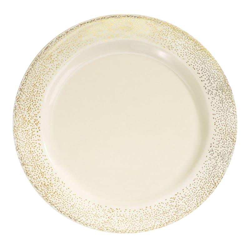 Set Of 10 Gold Dinner Plates