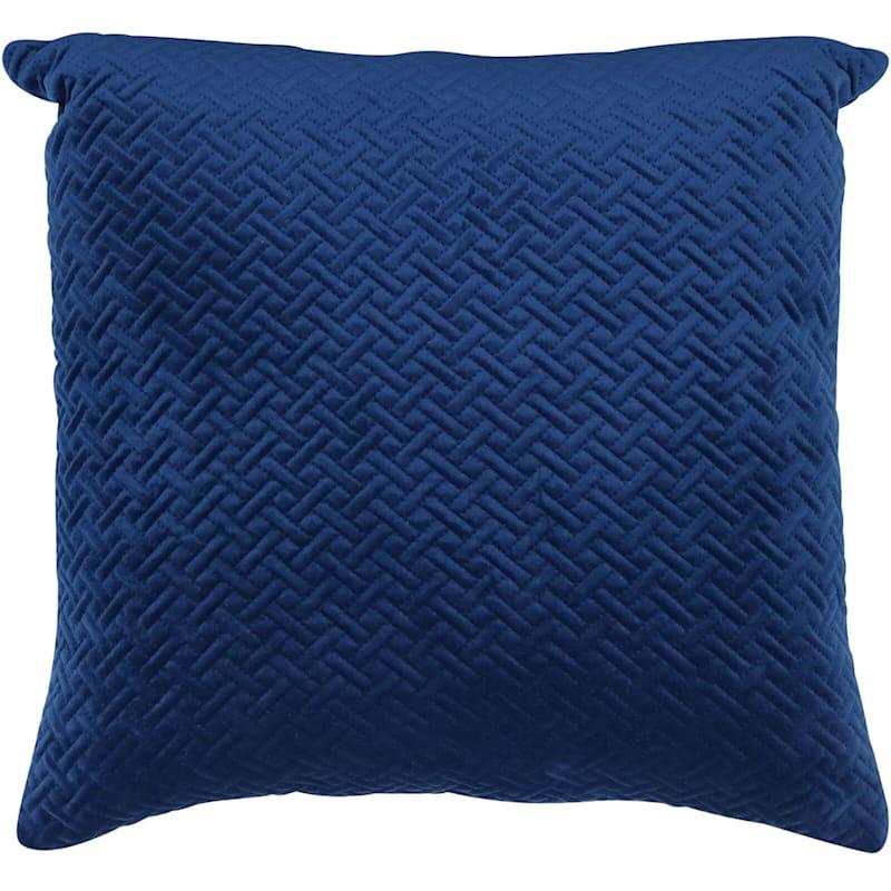 Wicker Park Indigo Pinsonic Plush Pillow 18X18