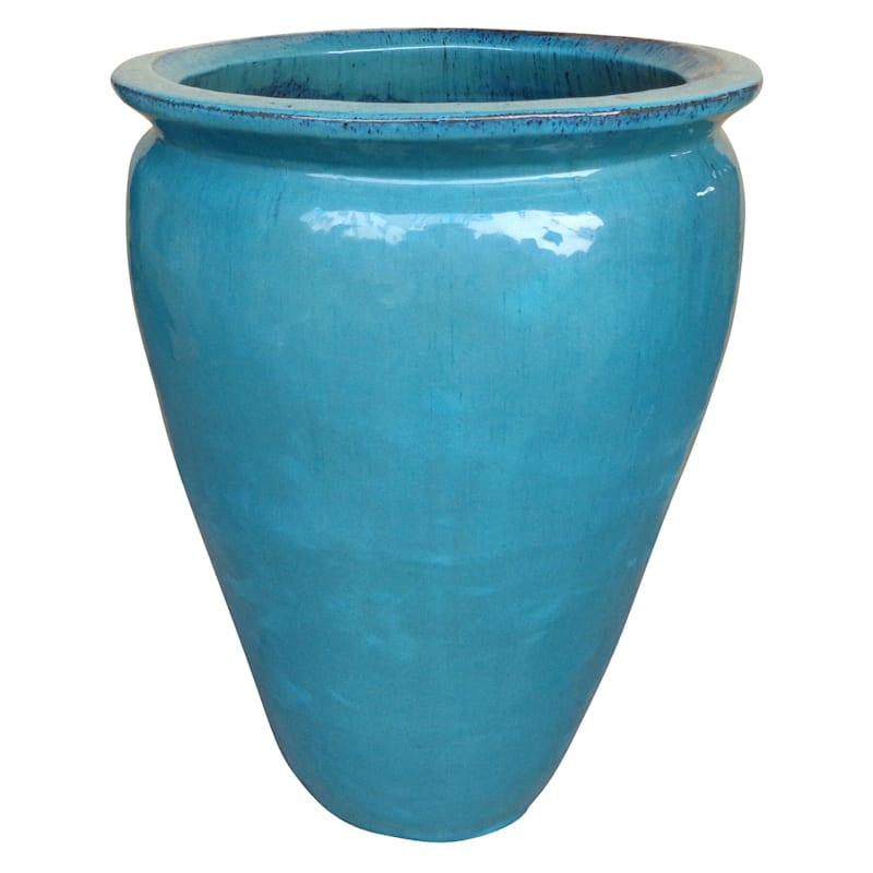 Arcadia Ceramic Planter 20.9in. Aqua