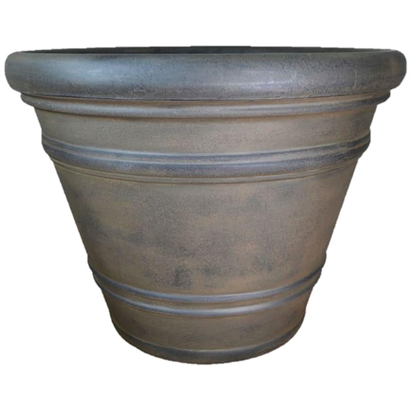 Pienza 24in. Decorative Planter Sable