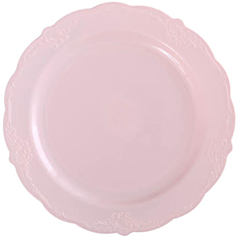 10in. Vintage Blush Plate Set Of 10