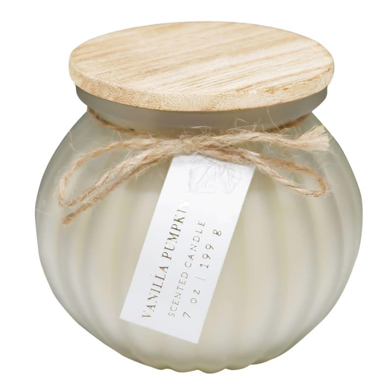 Vanilla Pumpkin Glass Jar Candle, 7oz