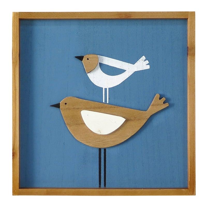 """Wooden Birds Wall Art, 12"""""""