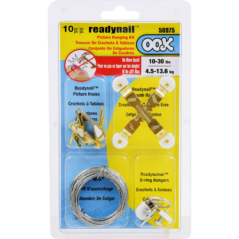 10 to 30 lb Ready Nail Picture Hanging Set