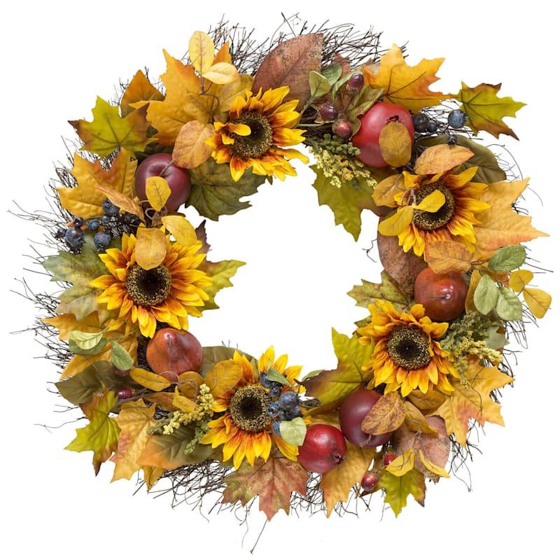 Sunflower/Fruit/Berry Wreath- 30-in
