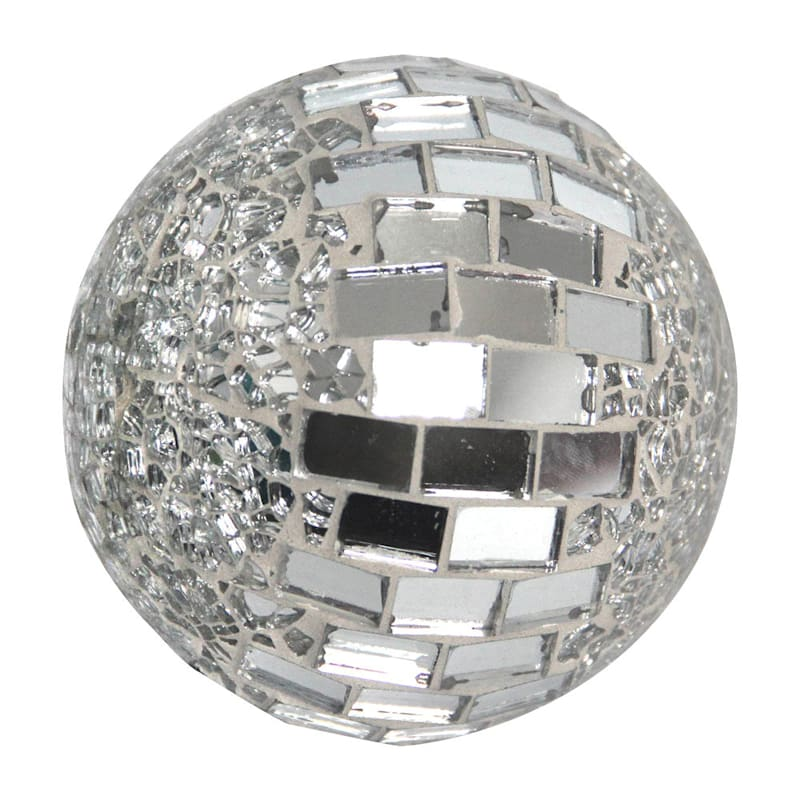 3in. Crackle With Tiled Glass Mosaic Sphere