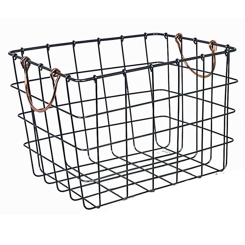 Bronze Metal Wall Basket