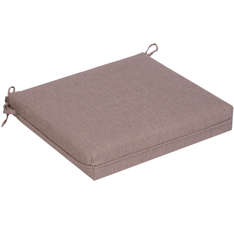 Sonora Taupe Outdoor Premium Square Seat Cushion
